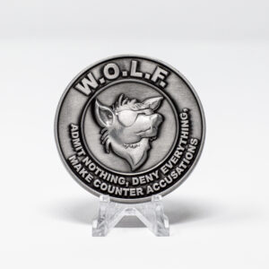 W.O.L.F. Coin Antique Silver